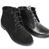 Женские замшевые/кожаные ботинки, новинка!