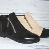 Женские замшевые ботиночки, 3 цвета