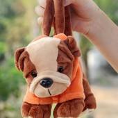 Рюкзак детский, Пчелка,  Сумочка-игрушка 2 в 1  собачка, для девочек и мальчиков