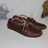 43 28см The Shoes Кожаные топ-сайдеры мокасины