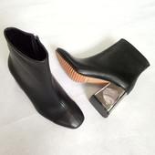 Ботинки на контрастном каблуке от Marni(Марни).