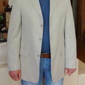 Английский, летний мужской пиджак с полосочкой, Last Emperor, 50 размер.