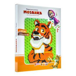 Мозаика в большой коробке тигр от маша и медведь фото №1