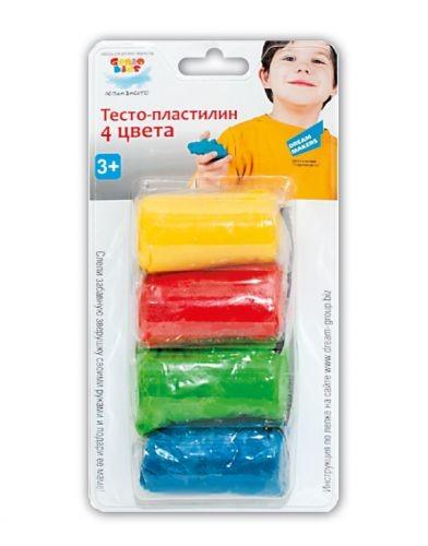 Тесто для лепки -пластилин 4 цвета та1055в genio kids фото №1