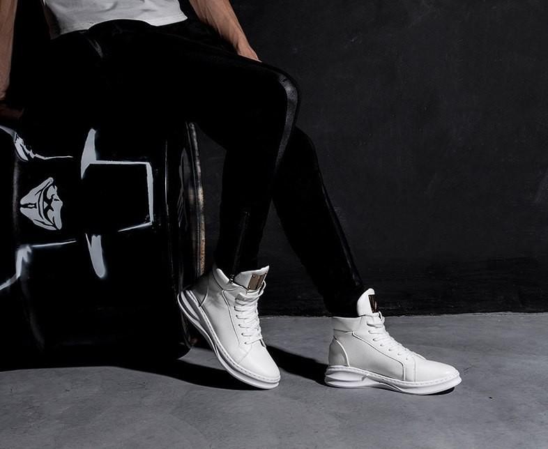 Мужские кроссовки высокие designer shoes, два цвета фото №1