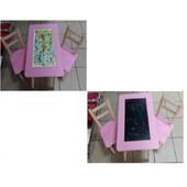 Столик с настольной игрой и доской для рисования арт. 063