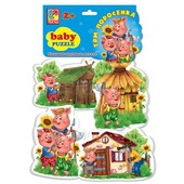 Baby puzzle Vt 1106-37 Сказка Три поросенка Vladi Toys