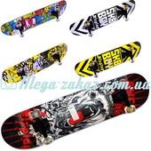 Скейтборд спортивный iTrike 0355, 6 видов: алюминиевая подвеска, PU колеса