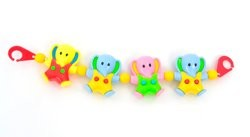 Растяжка на  коляску,  слоники  (  игрушки 3шт  на растяжке) фото №1