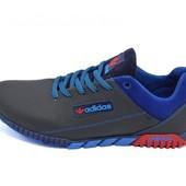 Кроссовки мужские Adidas 39 синие (реплика)