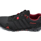 Мужские кроссовки Adidas сlimaCool  черные (реплика)