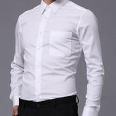 мужская белая рубашка из биохлопка.Германия.