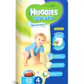 Трусики-подгузники Huggies Little Walkers для мальчиков 4 (9-14 кг) 52 шт