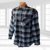 Фланелевая мужская рубашка в клетку р.L/XL Faded Glory