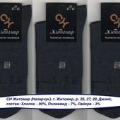 Носки мужские Житомир СН 25 р.,  деми, х/б с лайкрой, джинс