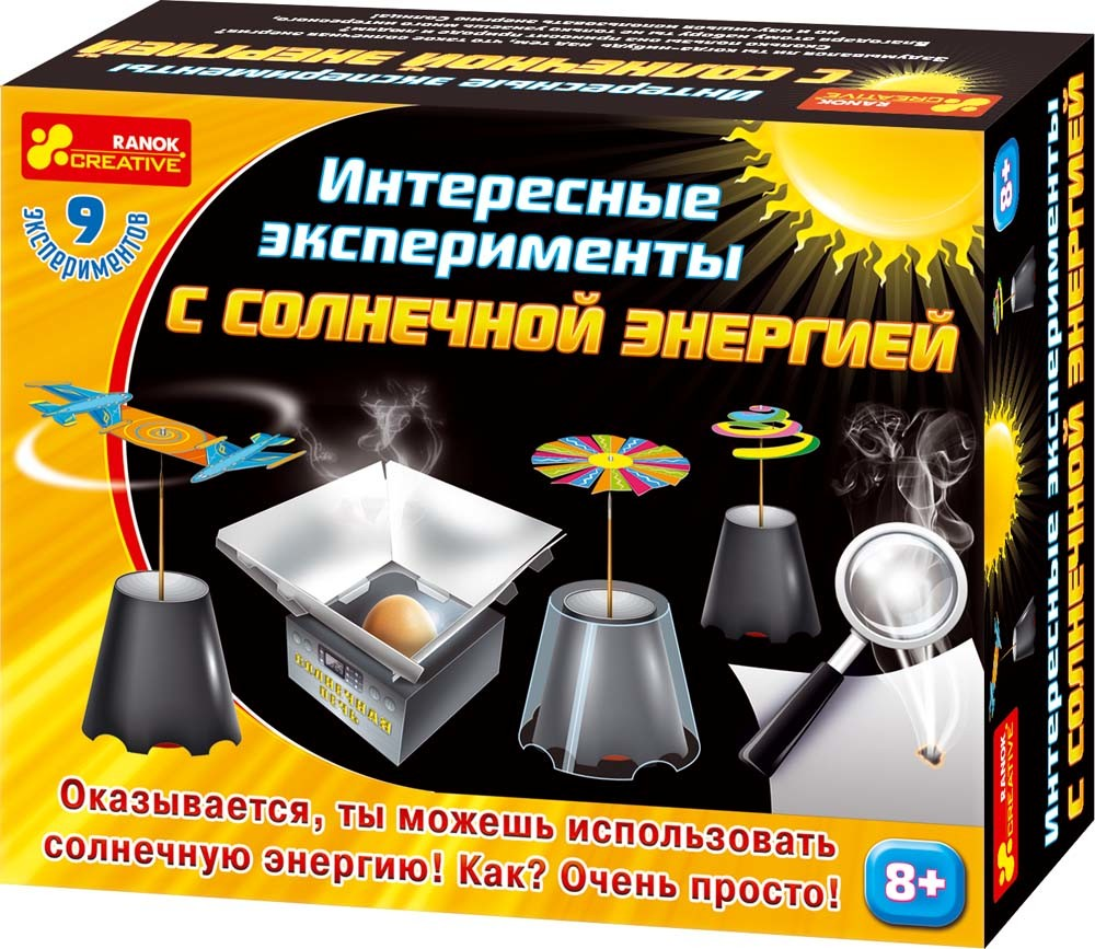 Набор экспериментов с солнечной энергией 12114016р ранок креатив фото №1