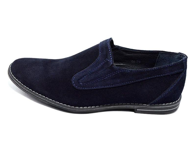 Распродажа!!! Туфли мужские замшевые Van Kristi 354 синие (реплика) фото №1