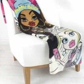 Детский флисовый плед Bratz куклы Братц 100х150 см