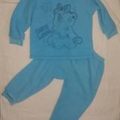 Флисовая пижамка б/у, р.98-104