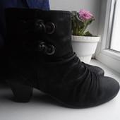 Кожаные демисезонные женские ботинки. Ст-25,5 см