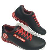 Кроссовки Джордан чёрно-красные