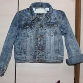 джинсовый жакет варйонка  5 лет