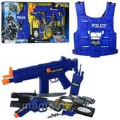 Набор полиции 33520 автомат-трещ, пистолет, жилет, кобура, нож, наручники