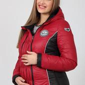 Демикуртка для беременных, ягодная. Бесплатная доставка НП