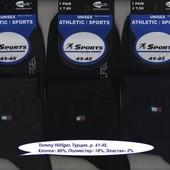 Носки мужские 3 модели Tommy Hilfiger, Athletic Sports, х/б деми спорт, средние, р. 41-45.