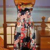 Платье-сарафан бюстье в цветочный принт р.8 Jane Norman