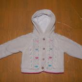 12-18 мес., 80-86, демисезонная куртка кофта Marks&Spencer на искусственном меху