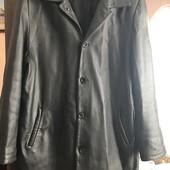 Кожаная куртка-плащ