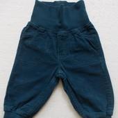 Брюки вельветовые синие H&M унисекс 4-6 месяцев