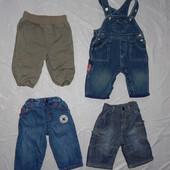 0-3 мес., р. 50-62 джинсы, фирменные джинсики для малышей в отличном состоянии