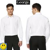 Новая мужская белая рубашка George р. XL (17). сток