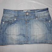S-M, поб 46-48, юбка джинсовая Treu2u с потертостями