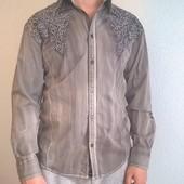 Рубашка M,L коттон-стрейч