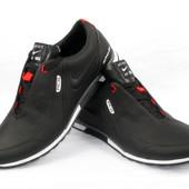 Мужские кроссовки кожаные Nike 00162 черный синий