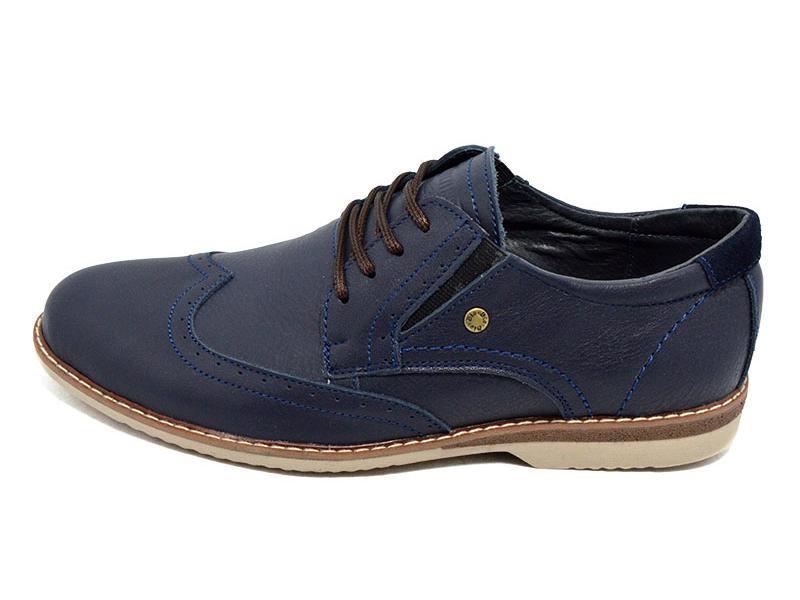 Распродажа!!! Туфли мужские кожаные Multi Shoes luxury rb-17 синие фото №1