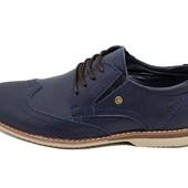 Туфли мужские кожаные Multi Shoes luxury rb-17 синие