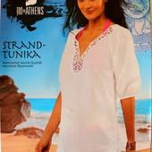 Пляжная белая туника хлопок кружево р.ХS Esmara Германия