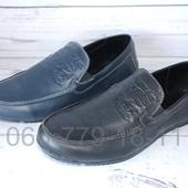 Кожаные мужские мокасины в стиле Levis,черные и синие