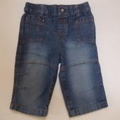 Джинсы синие Cherokee на мальчика 6-9 месяцев рост 74 см
