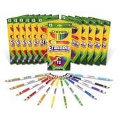Набор карандашей 12 шт с резинкой для стирания Crayola