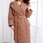 Пальто из экокашемира