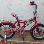 Надежный детский велосипед Navigator Angry Birds red, колеса 14 дюймов