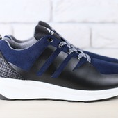 Кроссовки Adidas из натур. замши, р. 40-45, код nvk-2433