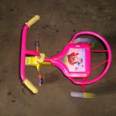 Трехколёсный детский велосипед (розовый для девочки)