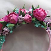 Обруч/ободок с цветами