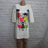 Красивое платье из плотной ткани, S